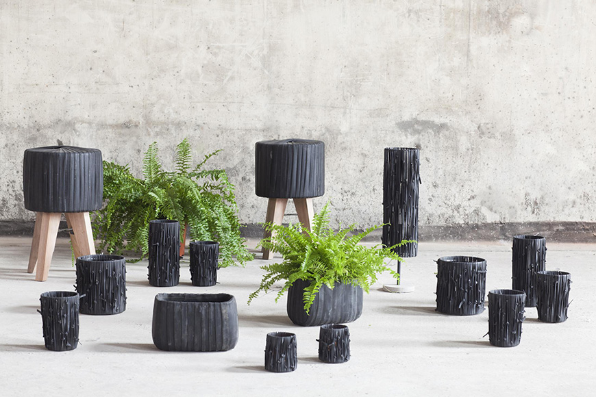 Recycled Rubber Vase_3